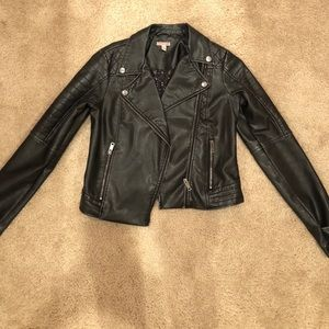 Aeropostale faux leather jacket